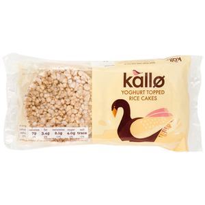 KALLO YOGHURT TOPPED RICE CAKES (6s) x 12