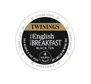 KEURIG K-CUP TWININGS ORIGINAL ENGLISH BREAKFAST BLACK TEA - CASE OF 96 PODS (PACKED AS 4 BOXES OF 24 INDIVIDUAL PODS)