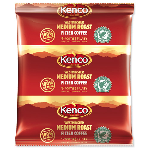 KENCO WESTMINSTER MEDIUM ROAST 100% ARABICA FILTER COFFEE (3-pints) x 50