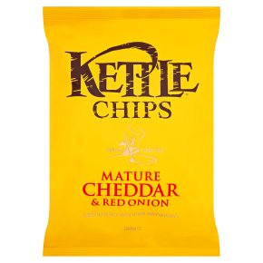 KETTLE CHIPS MATURE CHEDDAR & RED ONION (150g) x 12