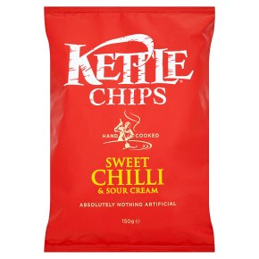 KETTLE CHIPS SWEET CHILLI (150g) x 12