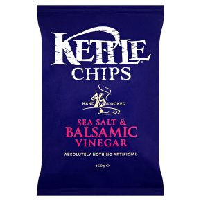 KETTLE CHIPS SEA SALT & BALSAMIC VINEGAR (150g) x 12
