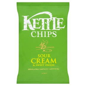 KETTLE CHIPS SOUR CREAM & SWEET ONION (150g) x 12
