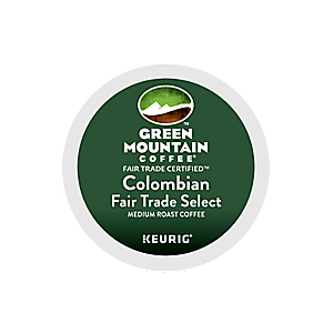 KEURIG K-CUP GREEN MOUNTAIN COFFEE COLOMBIAN FAIRTRADE - CASE OF 96 PODS (PACKED AS 4 BOXES OF 24 INDIVIDUAL PODS)