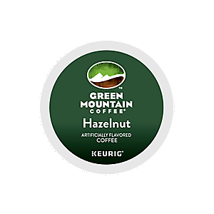 KEURIG K-CUP GREEN MOUNTAIN COFFEE HAZELNUT - CASE OF 96 PODS (PACKED AS 4 BOXES OF 24 INDIVIDUAL PODS)
