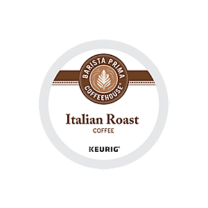 KEURIG K-CUP BARISTA PRIMA ITALIAN ROAST COFFEE - CASE OF 88 PODS (PACKED AS 4 BOXES OF 22 INDIVIDUAL PODS)