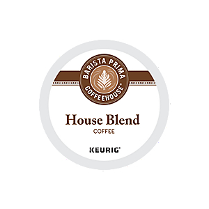 KEURIG K-CUP BARISTA PRIMA HOUSE BLEND COFFEE - CASE OF 88 PODS (PACKED AS 4 BOXES OF 22 INDIVIDUAL PODS)