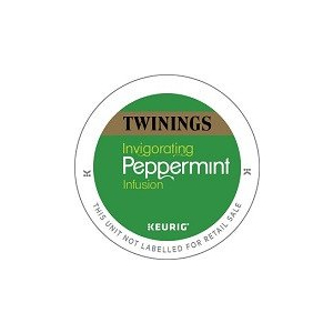 KEURIG K-CUP TWININGS PEPPERMINT TEA - CASE OF 60 PODS (PACKED AS 6 BOXES OF 10 INDIVIDUAL PODS)