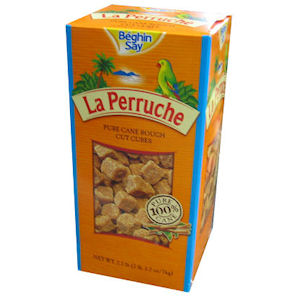 LA PERRUCHE ROUGH CUT BROWN PURE CANE SUGAR CUBES (1kg)