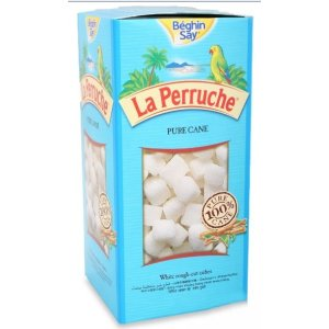 LA PERRUCHE ROUGH CUT WHITE PURE CANE SUGAR CUBES (1kg)