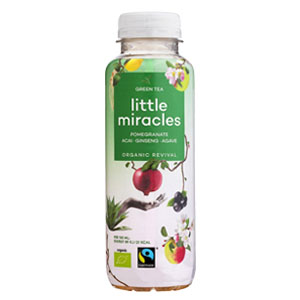 LITTLE MIRACLES GREEN TEA, GINSENG, POMEGRANATE & ACAI (330ml) x 12