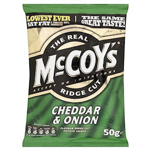 THE REAL McCOY'S RIDGE CUT CHEDDAR & ONION x 30