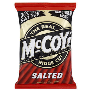 THE REAL McCOY'S RIDGE CUT SALTED x 30