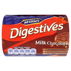 McVITIE'S DIGESTIVES MILK CHOCOLATE (200g) x 24
