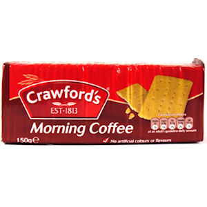 CRAWFORD'S MORNING COFFEE BISCUITS (150g) x 12