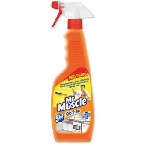 MR MUSCLE 5 IN 1 SPRAY KITCHEN CLEANER (500ml) x 6