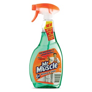 MR MUSCLE WINDOW CLEANER (500ml) x 6