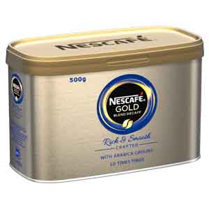 NESCAFÉ GOLD BLEND DECAFFEINATED INSTANT COFFEE TIN (500g)