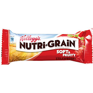 KELLOGG'S NUTRI-GRAIN SOFT & FRUITY STRAWBERRY BARS (37g) x 28