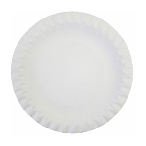 6in LINED BOARD/PAPER PLATES WHITE (100-pack) x 10