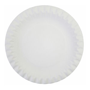 7in LINED BOARD/PAPER PLATES WHITE (100-pack) x 10