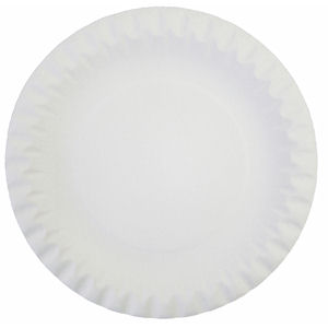 9in LINED BOARD/PAPER PLATES WHITE (100-pack) x 10