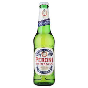 PERONI NASTRO AZZURO LAGER - GLASS BOTTLES (330ml) x 24