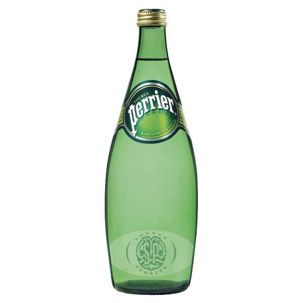 PERRIER SPRING WATER - GREEN GLASS BOTTLES (750ml) x 12