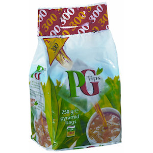 PG TIPS PREMIUM TWO CUP PYRAMID TEA BAGS (300 bags) x 8