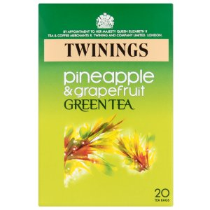 TWININGS PINEAPPLE & GRAPEFRUIT GREEN TEA BAGS (20 bags)