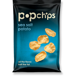 POPCHIPS SEA SALT (23g) x 24