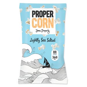 PROPERCORN LIGHTLY SEA SALTED POPCORN