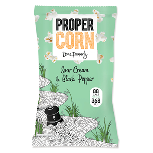 PROPERCORN SOUR CREAM & BLACK PEPPER POPCORN