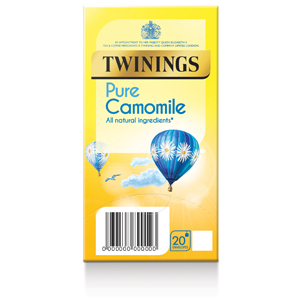 TWININGS CALMING CAMOMILE TAG & ENVELOPE TEA BAGS (20 bags)