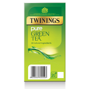 TWININGS PURE GREEN TEA TAG & ENVELOPE TEA BAGS (20 bags)