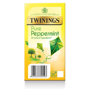 TWININGS INVIGORATING PEPPERMINT TAG & ENVELOPE TEA BAGS (20 bags)