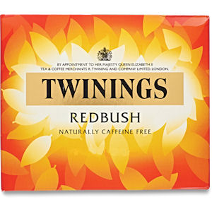 TWININGS REDBUSH TAG & ENVELOPE TEA BAGS (20 bags)