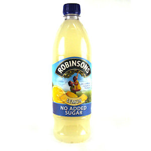 ROBINSONS NO ADDED SUGAR LEMON (1L) x 12