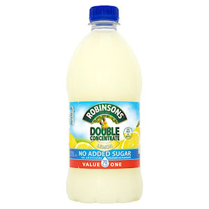 ROBINSONS DOUBLE CONCENTRATE NO ADDED SUGAR LEMON (1.75L)