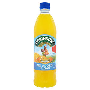 ROBINSONS NO ADDED SUGAR ORANGE (1L) x 12