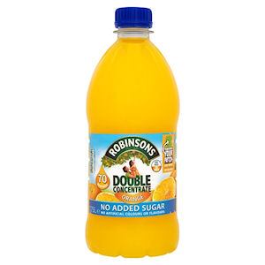 ROBINSONS DOUBLE CONCENTRATE NO ADDED SUGAR ORANGE (1.75L)