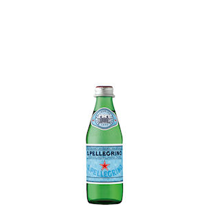 SAN PELLEGRINO MINERAL WATER SPARKLING - GREEN GLASS BOTTLES (250ml) x 24