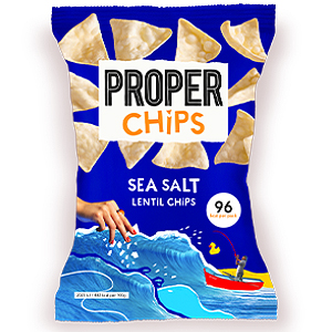 PROPERCHIPS SEA SALT LENTIL CHIPS (20g) x 24