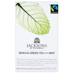 JACKSONS OF PICCADILLY SENCHA GREEN TEA WITH MINT TAG & ENVELOPE TEA BAGS (20 bags)