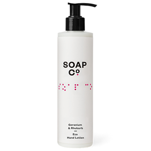 THE SOAP CO. GERANIUM & RHUBARB HAND LOTION (300ml)