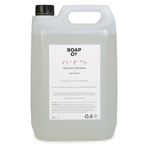 THE SOAP CO. GERANIUM & RHUBARB HAND WASH REFILL (5L) x 2