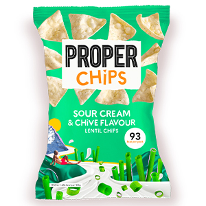 PROPERCHIPS SOUR CREAM & CHIVE LENTIL CHIPS (20g) x 24