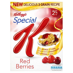 KELLOGG'S SPECIAL K RED BERRIES CEREAL (360g) x 10