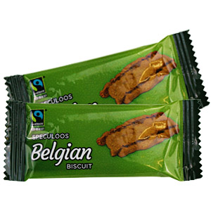 FAIRTRADE SPECULOO SINGLE PACK CARAMELISED BISCUITS x 300