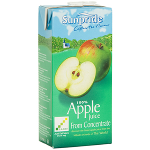 SUNPRIDE APPLE JUICE CARTONS (1L) x 12